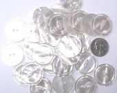 White Cat Eye Buttons, 16 Discount buttons, Sewing buttons, Large fish eye buttons, Pearlized buttons, Iridescent buttons, lab coat buttons
