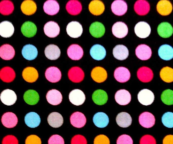 Black Background With Colorful Dots Dots in Black Background
