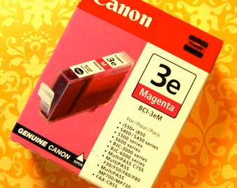 Canon Ink Cartridge, Magenta Red, Sealed & Unopened