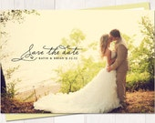 Save-The-Date - Vintage Wedding Save The Date Card or Magnet - Sunshine