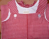 CLEARANCE  Size 12 Month Baby Boy's Red Gingham Shortall Romper