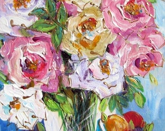 Still Life Fruit Original Painting 11 x 14 by Elaine Cory