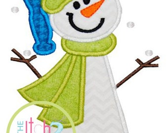 Snowman Let It Snow Applique Design In Hoop Size(s) 4x4, 5x7, & 6x10 INSTANT DOWNLOAD now available