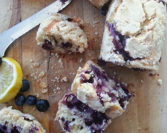 Lemon Blueberry Bread Mini Loaves ~ 3 loaves