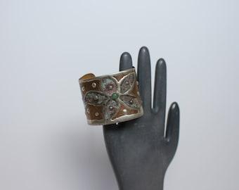Copper & Jade Cuff