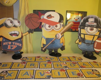 Sports theme centerpieces for children
