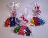 20 Packs - Lego Style Minifigures and Block Crayon Set (60 Crayons)