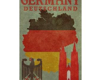 GERMANY 1FS- Handmade Leather Photo Album - Travel Art