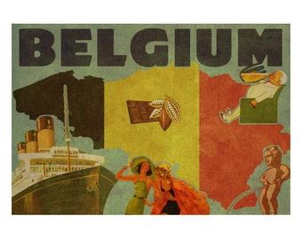 BELGIUM 2FS- Handmade Leather Photo Album - Travel Art
