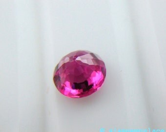 SPINEL. Micro Facet. Bright Magenta Pink. Round. 1 pc. 0.90 cts. 6mm (SP61)