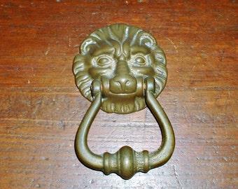 Vintage Lion  Head Door Knocker Architectual Salvage Home Decor