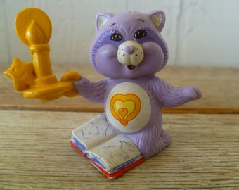 Vintage Care Bear Cousin Bright Heart Racoon PVC Miniature