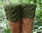 Boot Toppers - Olive Cables & Lace