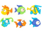 Something Fishy Plastic Buttons/ Sewing Supplies / DIY Craft supplies /Novelty Buttons/ Kids Craft Supplies