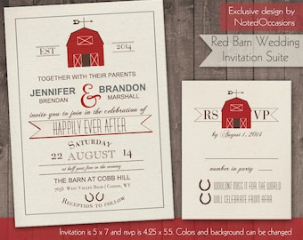 Printable Barn Wedding Invitation Rustic Barn Wedding Invitations for Country Weddings and Barn wedding in Barns digital printable file