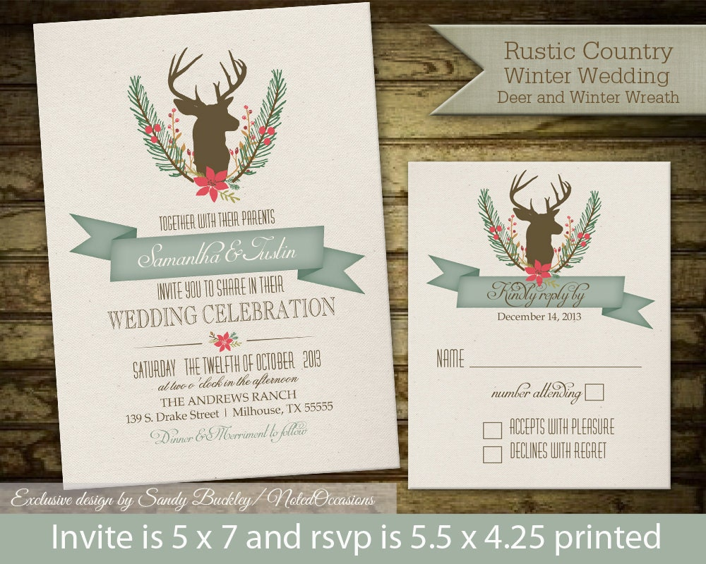 Deer Wedding Invitations is the best ideas you have to choose for invitation example