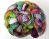 Dark Enchantress on Merino/Tussah Silk Spinning Fiber