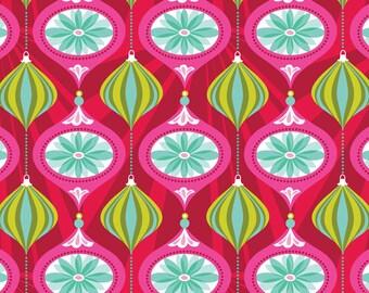 Christmas Fabric Blend Fabrics Josephine Kimberling Glam Red Hip Holiday Ornament One Yard