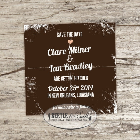 Old Love Printable Save the Date