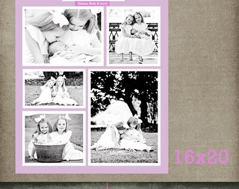 Sisters Storyboard template Story board, 16x20 Collage template Blog Board 16x20 Collage, Storyboard INSTANT DOWNLOAD