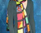 Portrait in Cells -  Silk Charmeuse Scarf