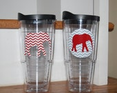 Alabama tumbler elephant vinyl Personalized tervis style tumbler 24 oz insulated BPA free double walled Monogrammed for you