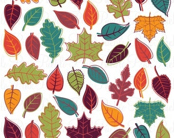 Autumn Fall Leaves Clipart Clip Art, Thanksgiving Leaf Clipart Clip Art Vectors - Commercial and Personal Use