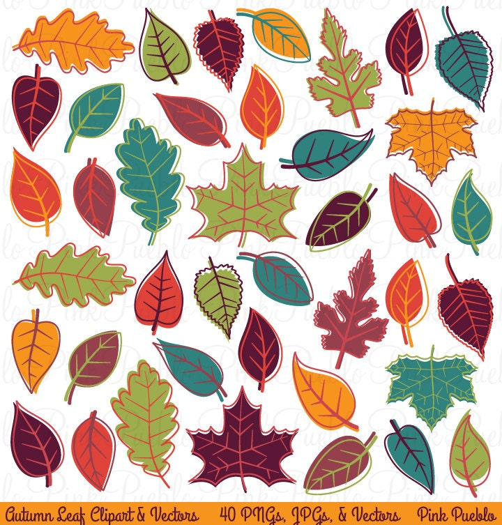 Autumn Fall Leaves Clipart Clip Art Thanksgiving Leaf Clipart