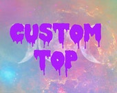 Customize Your Own Dripping Font T-shirt, Tank Top or Crop Top