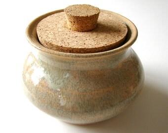 Ceramic Jar With Lid Wheel Thrown Stash Jar