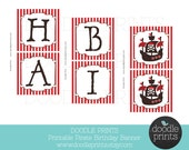 Pirate Happy Birthday Banner - Printable DIY - Pirate Birthday Package -  Instant Download - Pirate, ships, captain, boat Party Decoration