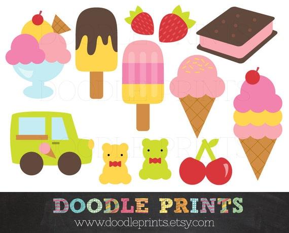 Clip Art Printable Clip Art ice cream clipart clip art printable digital by doodleprints scrapbook birthday party