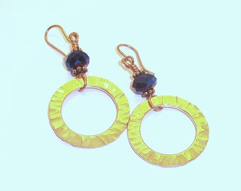 Copper Ring Earrings Free Shipping