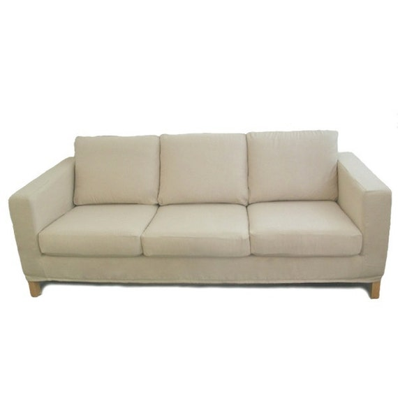 Custom IKEA Karlanda Sofa Slipcover in Oatmeal by