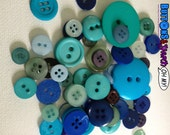 50 Blue Sewing Buttons