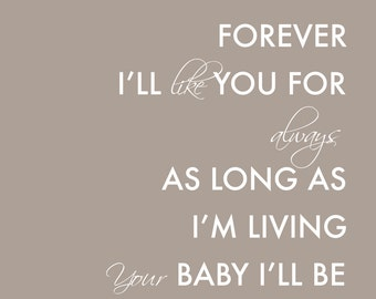 Mother's Day Gift Gift for Mom Mother of the Bride Gift - Mother of Groom Gift - I'll Love You Forever - Thank You Mom Gift From Kids 8x10