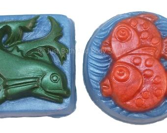 Fish Soap Set, Dual Fish, Guest Soap, Novelty Soap, You pick scent & color