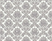 ANDREA DAMASK GRAY c3352 -  Andrea Victoria Cottons - My Mind's Eye - Riley Blake Designs -  By theYard