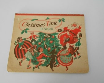 Christmas Time in Action vintage pop-up book 1949