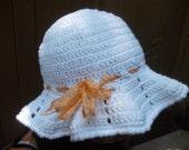 Crochet Sun Hat - Brimmed Hat - Beach Hat - White Crochet Hat - Crochet Floppy Hat - Fashion Accessories - Vegan Friendly