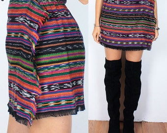 Vintage 90s South Western Wrap Mini Skirt