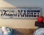 Vintage Looking Chippy The Farmer's Market Sign- Great For Kitchen-Wonderful Nostalgic Gift