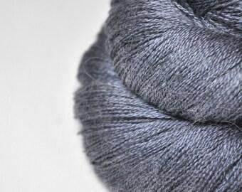 Stormy gray sea  - BabyAlpaca/Silk Lace Yarn