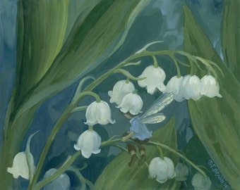 Lily of the Valley 8.5x11 Print with special gift