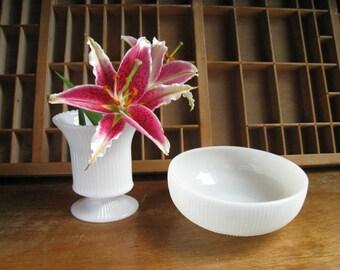 Vintage Milk Glass Vase Set White Milk Glass Brody Vases Wedding Decor