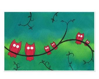 11x17 Owl Poster - Large Owl Print - Large Owl Wall Art - Owl Kids Room Art