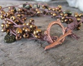 Autumn Branches- Beaded Bracelet - Fall Leaves