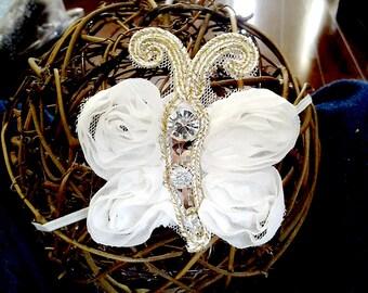 Baby headband, newborn headband, adult headband, child headband and photography prop The Sparkly Butterfly headband