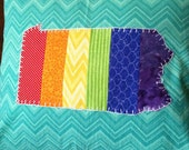 Custom OOAK State of Gay Appliqued Decorative Pillow