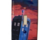 Blue Call Box Light switch cover painting British Police Wall